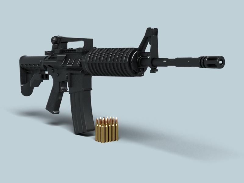 M4a1 múnla 3d 3ds max fbx obj 146380
