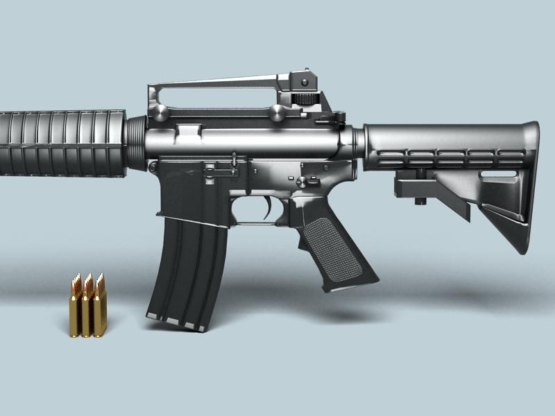 M4a1 múnla 3d 3ds max fbx obj 146382