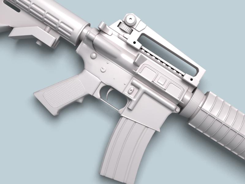 M4a1 múnla 3d 3ds max fbx obj 146386