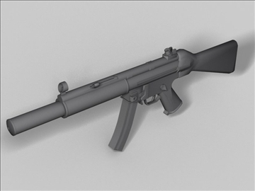 mp5 sd arma de nova generació model 3d obj 3 max