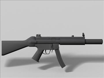 mp5 sd nākamās paaudzes ierocis 3d modelis 3ds max obj 88220