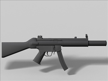 mp5 sd oružje sljedeće generacije 3d model 3ds max obj 88220