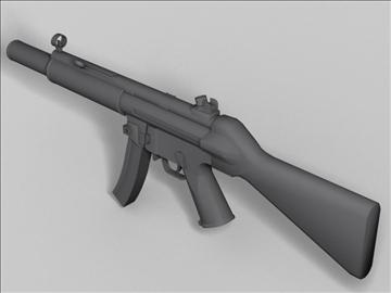 mp5 sd nākamās paaudzes ierocis 3d modelis 3ds max obj 88221