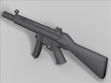 mp5 sd oružje sljedeće generacije 3d model 3ds max obj 88221