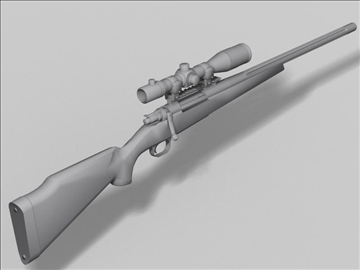 remington 98 3d model 3ds max obj 88223