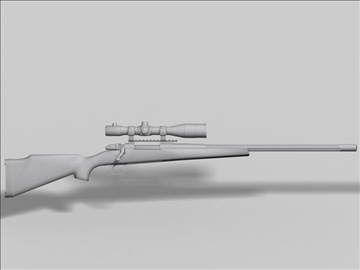remington 98 3d model 3ds max obj 88225