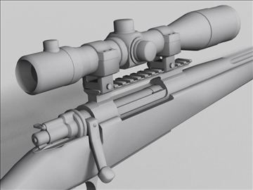 remington 98 3d model 3ds max obj 88226