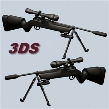 sniper rifle 3d model 3ds 96201
