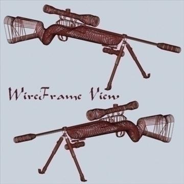 snaipera šautene 3d modelis 3ds 96202