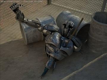 robot wedi'i dorri model max 3d obj 100360