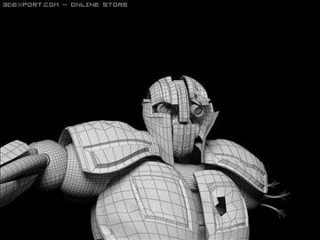 robot wedi'i dorri model max 3d obj 100363