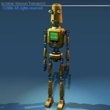 comic robot 3d model 3ds obj other 77488