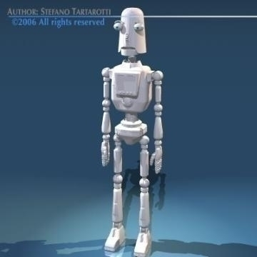 comic robot 3d model 3ds obj other 77489