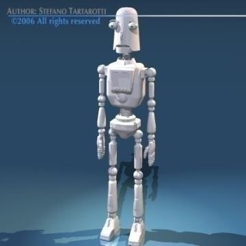 robot comig model 3d 3ds obj 77489 arall