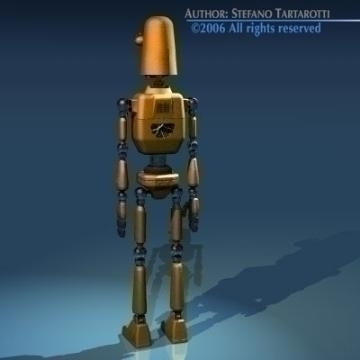 comic robot 3d model 3ds obj other 77492