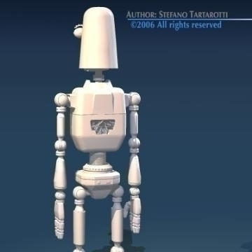 comic robot 3d model 3ds obj other 77494