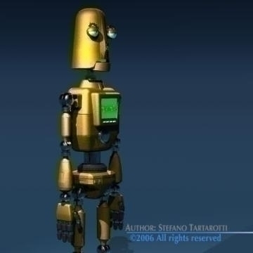 comic robot 3d model 3ds obj other 77495
