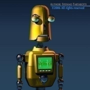 comic robot 3d model 3ds obj other 77496