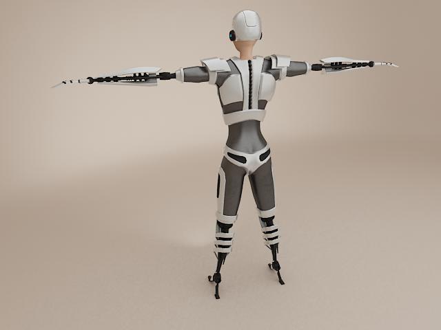 model cyborg benywaidd 3d 3ds max fbx obj 113392