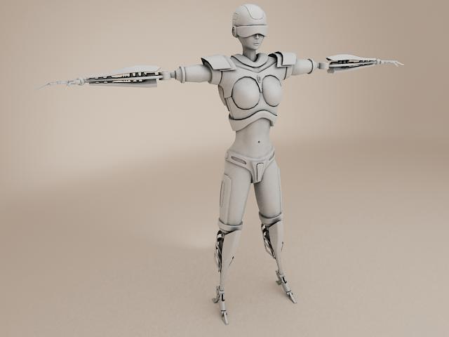 model cyborg benywaidd 3d 3ds max fbx obj 113393