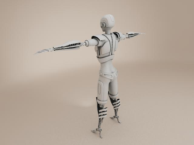 model cyborg benywaidd 3d 3ds max fbx obj 113394