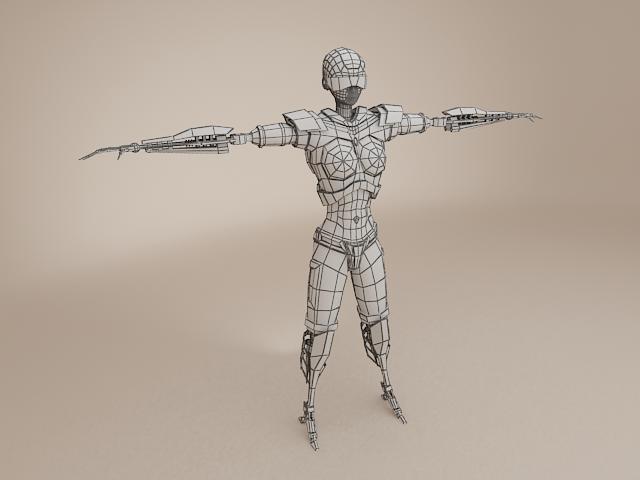model cyborg benywaidd 3d 3ds max fbx obj 113395