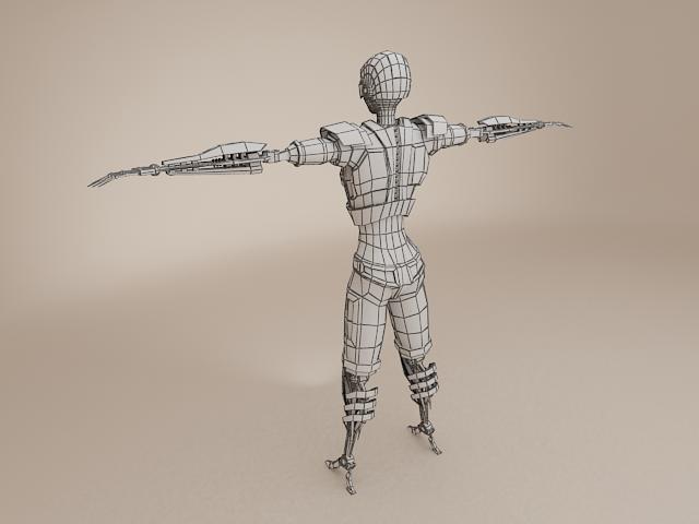 model cyborg benywaidd 3d 3ds max fbx obj 113396