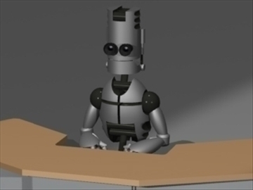 news robot 3d model 3ds 81177
