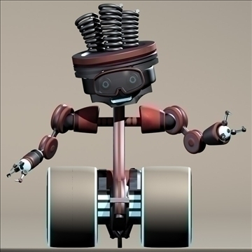piston man character robot 3d model max 105587