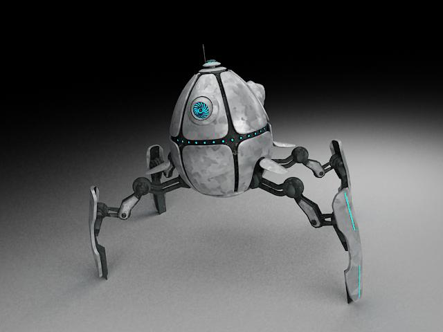 robot ae300 3d model 3ds max fbx obj 116623