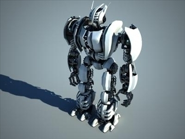 robot collection 3d model 3ds max fbx c4d obj 106843
