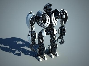robot collection 3d model 3ds max fbx c4d obj 106844