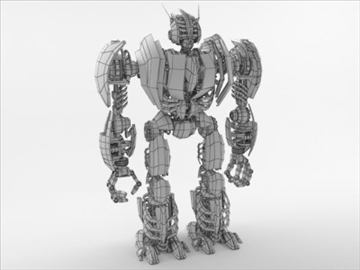robot collection 3d model 3ds max fbx c4d obj 106845
