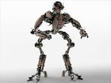 robot collection 3d model 3ds max fbx c4d obj 106846