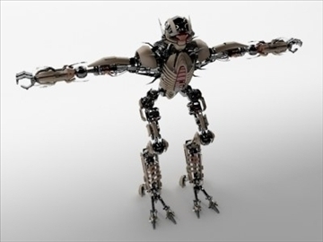 robot collection 3d model 3ds max fbx c4d obj 106847