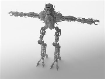 robot collection 3d model 3ds max fbx c4d obj 106848