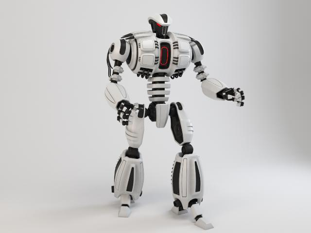 robot dg540 3d model 3ds max fbx obj 118773