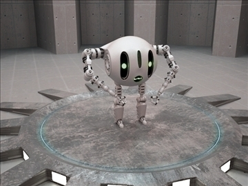 robot etr 220 3d model 3ds max fbx obj 103743