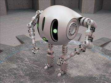 robot etr 220 3d model 3ds max fbx obj 103744