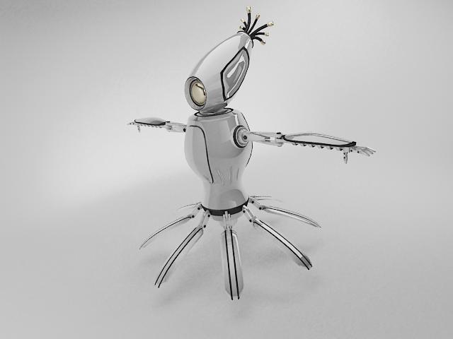 robot fbd450 model 3d 3ds max fbx obj 113751