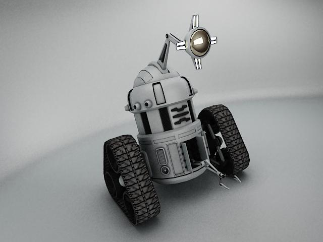 robot mjk645 3d model 3ds max fbx obj 114199