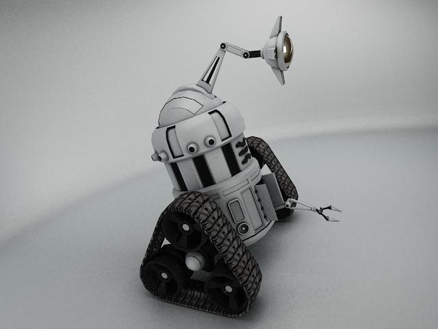 robot mjk645 3d model 3ds max fbx obj 114200