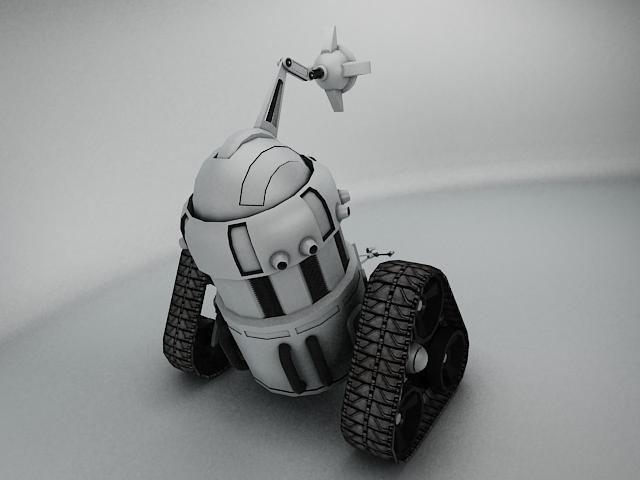 robot mjk645 3d model 3ds max fbx obj 114201