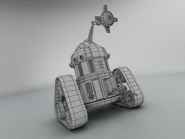 robot mjk645 3d model 3ds max fbx obj 114203