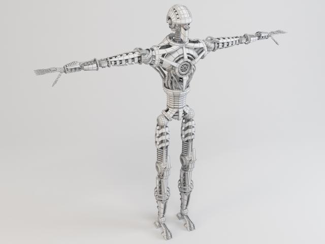 robot sin230 model 3d 3ds max fbx obj 118635