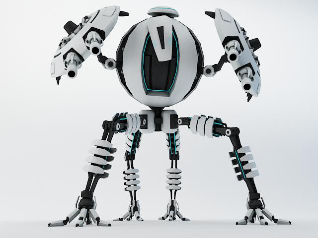 robot tp65 model 3d 3ds max fbx obj 112864