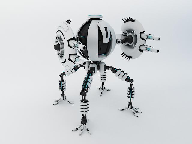 robot tp65 model 3d 3ds max fbx obj 112865