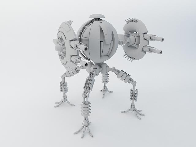 robot tp65 model 3d 3ds max fbx obj 112866