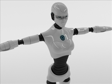robot woman 3d model 3ds max fbx c4d obj 105264