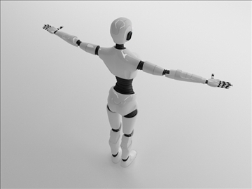 merch robot model 3d 3ds max fbx c4d obj 105269